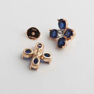 🔥Tory Burch Blue crystal flower earrings